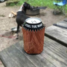 Brown Bag Can Koozie - Stay classy with a brown bag can koozie.