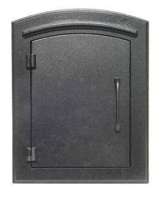 QualArc MAN-1400BL Manchester Column Mount Mailbox Plain Door in Black by QualArc. $238.55. From the Manufacturer                The Manchester Non Locking Column Mount Mailbox has a cast aluminum faceplate with a tough powder coat finish.  It features a composite masonry box and is sealed from the weather aliments.  This mailbox adds an elegant look to any residence.                                    Product Description                QualArc MAN-1400BL Manche...