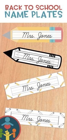 Cursive Desk Name Plates : Pencil Theme (Editable) Teaching Kids To Write, Teaching Cursive, Primary Teaching, Elementary Teaching, Creative Teaching, Teaching Strategies, Teaching Resources, Beginning Of The School Year, Back To School