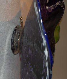 Blown Glass Platter Installation