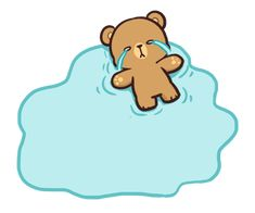 Cute Cartoon Images, Cute Cartoon Girl, Cute Love Cartoons, Bear Cartoon, Cartoon Pics, Cute Cartoon Wallpapers, Message Stickers, Cute Stickers, Cute Love Gif