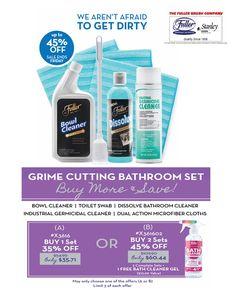 45% Off Grime Cutting Bathroom Set! https://www.fullerdirect.com/10000828 #Fullerbrush #Stanley