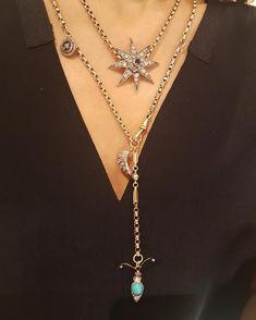 Boho Jewelry, Jewelry Box, Vintage Jewelry, Fine Jewelry, Handmade Jewelry, Jewelry Making, Jewellery, Jewelry Ideas, Stacked Necklaces