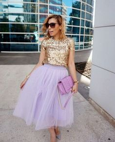 closet ideas fashion outfit style apparel purple skirt, glossy blouse Stylish Formal Skirts for Women To Wear To Office Modest Fashion, Trendy Fashion, Vintage Fashion, Fashion Outfits, Womens Fashion, Gq Fashion, Trendy Style, Fasion, Fashion Ideas