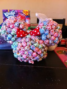 Minnie Mouse centerpiece I made.