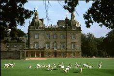 Houghton Hall Interiors | The park is home to a herd of about six hundred white fallow deer, as ...