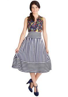 Hey, Ol' Port Skirt. I like how the skirt has both vertical and horizontal stripes.