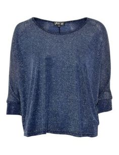 Atelier Navy 3/4 Sleeve Slouch Top