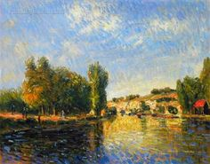 The Loing at Moret by Alfred Sisley