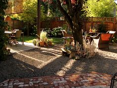 I want the back patio to look more like this and less like a redneck family is camping out in the backyard.