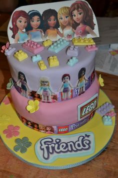 girls lego cake for my daughter
