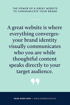 THE POWER OF A GREAT WEBSITE TO COMMUNICATE YOUR BRAND.  We take a look at how a great website amplifies a well-crafted brand. Read now to get all the goods for facing 2020 HEAD ON.