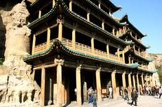 yungang-grottoes-wooden-buildings