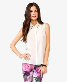 Pearlescent Chiffon Shirt | FOREVER21 - 2000050197