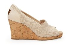 undefined Natural Woven Diamond Women's Classic Wedges
