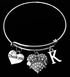 JewelsObsession Sterling Silver 25mm Rn Registered Nurse Charm w//Lobster Clasp