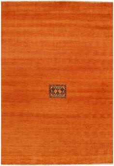 This Afghan Gabbeh design rug is hand-knotted with Wool on Cotton and has 72 knots per square inch. <br /> The primary color in this handmade rug is Orange/Rust. <br /> This rug is New and in Perfect condition. <br /> The measurements for this rug are: 6 feet 8 inches wide by 9 feet 7 inches long. <br /> This rug is currently Available and will ship within 2 business days. <br /> Free International Shipping & 14-Day Returns. <...