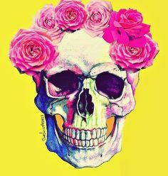 is Radio, rediscovered - Freaky Friday () by nothingbutgoodvibesx in MNL Pink Skull, Floral Skull, Sugar Skull Art, Sugar Skulls, Cute Skeleton, Skeleton Girl, Catrina Tattoo, Skull Wallpaper, Skulls And Roses