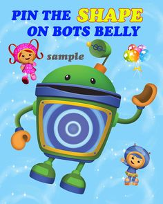 Ready to ship Team umizoomi pin the shape game For ready to ship items Game will look just like the sample and will ship within 24 hours of payment Mail takes 3-5 business day to reach you