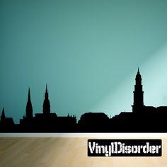 Hamburg Germany Skyline Vinyl Wall Decal or Car Sticker SS115