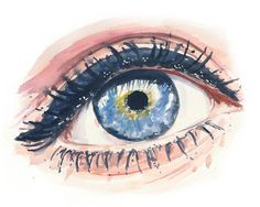 Image about art in Desenhos que amo by Luiza Helena Pinhelli Nemetz Watercolor Eyes, Arches Watercolor Paper, Watercolor Drawing, Watercolor Illustration, Watercolor Paintings, Watercolor Pencils, Watercolours, Oil Paintings, Paintings Tumblr