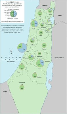 40 maps that explain the middle east the modern world topics distribution of palestinian and jewish population in palestineisrael circa 1946 gumiabroncs Images
