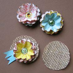 Burlap and Paper Flower Tutorial by Craft Warehouse Design Team Member Steffanie Seiler