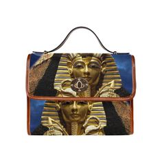 King Tut and Pyramid Waterproof Canvas Bag/All Over Print. FREE Shipping. #artsadd #bags #kingtut