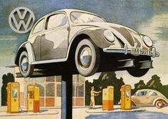 Volkswagen Beetle Advertisement 1953