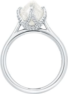 Trendy wedding ring style...  #ditrSignature #uniquesetting #diamondintherough