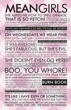 Mean Girls Quote Poster