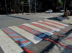 15. Yarn crosswalk in Philadelphia, U.S.