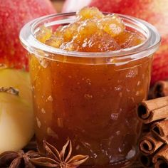 This apple cinnamon jam recipe has a wonderful apple flavor and is delicious with the added spices. Apple Cinnamon Jam Recipe from Grandmothers Kitchen. Jelly Recipes, Jam Recipes, Canning Recipes, Apple Recipes, Apple Cinnamon Jam, Apple Jam, Cocina Diy, Homemade Jelly, Jam And Jelly