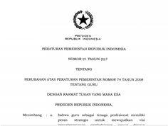 Peraturan Pemerintah Republik Indonesia Nomor 19 Tahun 2017 Tentang Guru