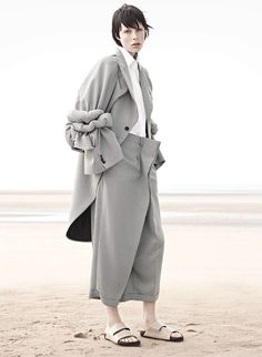 Edie Campbell for Vogue Paris November 2013. #grey #fashion #trends