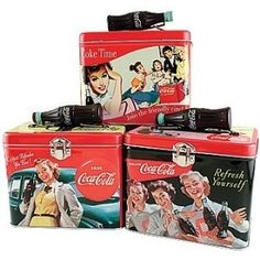 Vintage Coca Cola Lunch Boxes by yvette