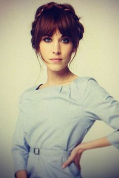 Alexa Chung hair - This is the EXACT hair style and bangs I've been wanting