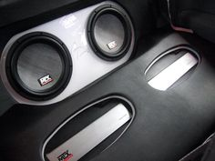 Thunder8000 subwoofers and TA series amplifiers in a custom trunk install.  #mtxaudio