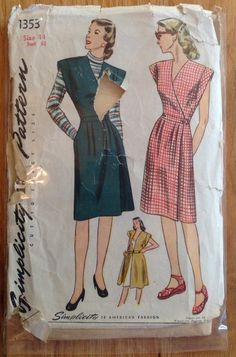 A personal favorite from my Etsy shop https://www.etsy.com/listing/251561404/vintage-1940s-sewing-pattern-simplicity