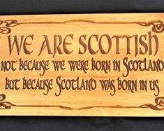Scottish Pride Plaque Scotland Alba signpipes and