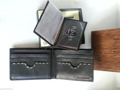 Rolfs black premium #leather bi-fold men wallet NEW IN BOX visit our ebay store at  http://stores.ebay.com/esquirestore