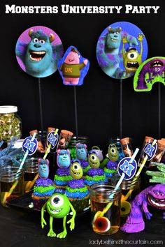 Monsters University Party - Lady Behind The Curtain #MonstersU  #Sponsored #Disney