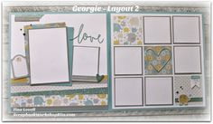 Hi Everyone, Today's kit is featuring the Georgie paper pack from Close To My Heart. This adorable baby themed kit is so adorable and I am s. Baby Scrapbook Pages, Baby Boy Scrapbook, Wedding Scrapbook, Disney Scrapbook, Scrapbook Sketches, Scrapbook Page Layouts, Scrapbook Cards, Photo Layouts, Applique Templates