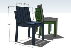 Ana White | Build a Simple Stackable Outdoor Chairs -- Free and Easy DIY Project and Furniture Plans (from Ana White)
