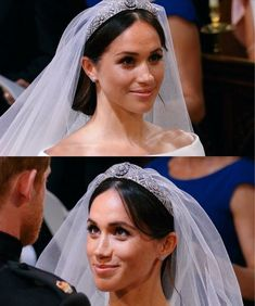 Meghan, Duchess of Sussex on her wedding day with Prince Harry
