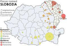 Places named Slobozia in Romania and Moldova