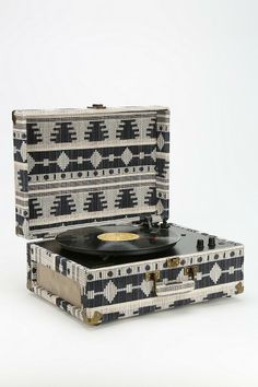 A girl can dream: Crosley AV Room Geo Fabric Record Player #urbanoutfitters #perfection