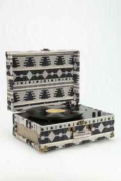 Crosley AV Room Geo Fabric Record Player #urbanoutfitters