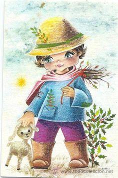 POSTAL NIÑO PASTOR 1973. Ilust.GALLARDA