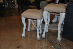 These Noir stools have animal-like legs!  Very cool look. TheHome.com #hpmkt
